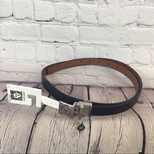 Anne Klein Women's Navy/Brown Reversible Belt